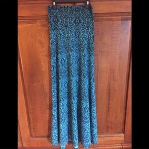LULAROE   Blue and Black Maxi Skirt/Dress
